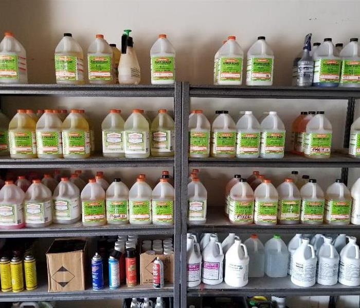 SERVPRO cleaning products